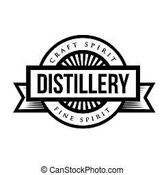 Distillery vintage logo vector