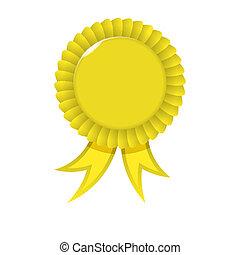 distinção, fita amarela