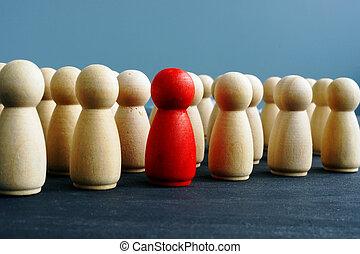 distinctness, bois, concept., desk., figures, différence, dissimilarity