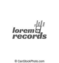 distintivo, emblema, isolato, illustrazione, chitarra, vettore, etichetta, festa, fondo, roccia, instrument., logotipo, bianco, musicale, casato