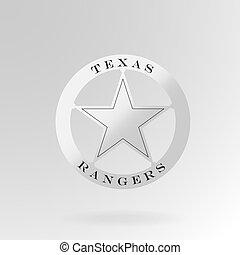 distintivo ranger, texas