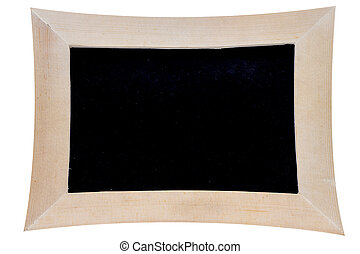 distorted blackboard on white background with clipping path