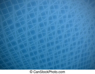 Complex distort blue on blue grid background