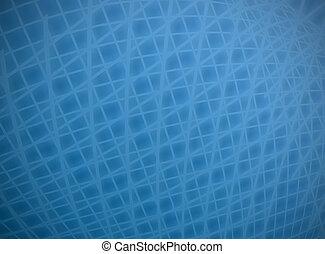 Distorted blue grid - Complex distort blue on blue grid...