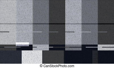 Distorted color bars motion background (seamless loop)