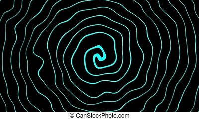 Distorted spiral lines that rotate