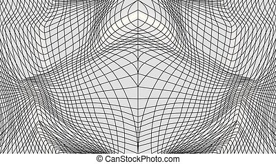 Distorted surface. Abstract wavy twisted distorted lines...