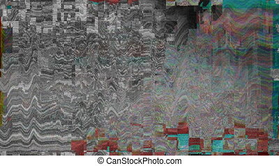 Distorted television screen - Digitally generated distorted...