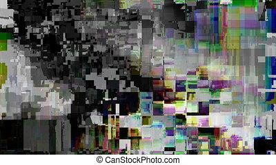 Distorted television screen - Digitally generated distorted ...