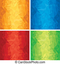 Set of Abstract Wrinkled vector backgrounds