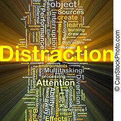 distração, fundo, conceito, glowing