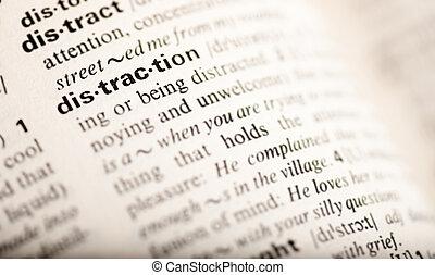 distracción, palabra