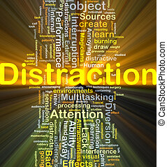 Distraction background concept glowing