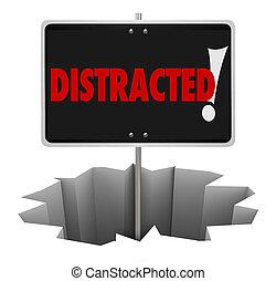 distrait, danger, payer, attention, signe, avertissement,...