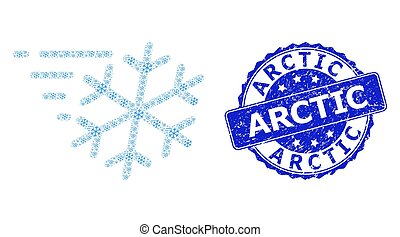 Distress Arctic Round Stamp and Fractal Frost Wind Icon ...