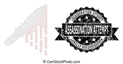 Distress Assassination Attempt Ribbon Stamp and Mesh Network...