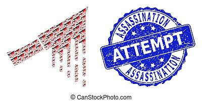 Distress Assassination Attempt Round Watermark and Fractal ...