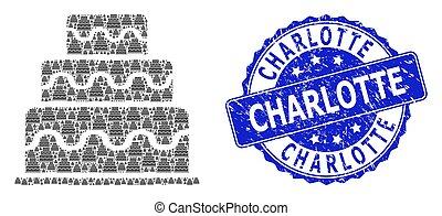 Distress Charlotte Round Seal and Recursive Cake Icon ...