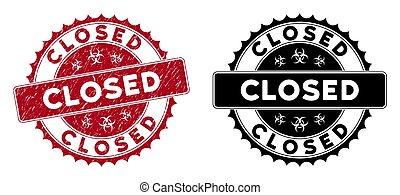 Distress Closed Round Red Stamp