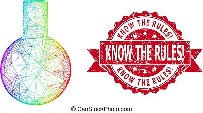 Distress Know the Rules! Stamp Seal and LGBT Colored Linear Glass Flask