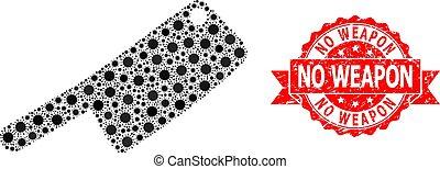 Distress No Weapon Stamp and Corona Virus Mosaic Butchery Knife