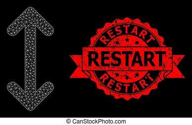 Distress Restart Stamp and Polygonal Net Swap Arrows Vertically