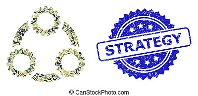 Distress Strategy Stamp Seal and Military Camouflage Composition of Gear Planetary Transmission
