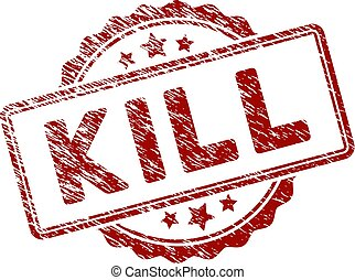 Distress Textured Kill Text Stamp Seal