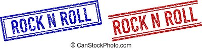 Distress Textured ROCK N ROLL Stamp Seals with Double Lines