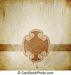 Distressed background with frame - Abstract vintage...