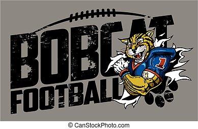 bobcat football - distressed bobcat football team design ...