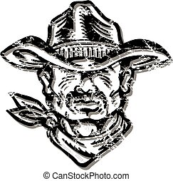 distressed cowboy