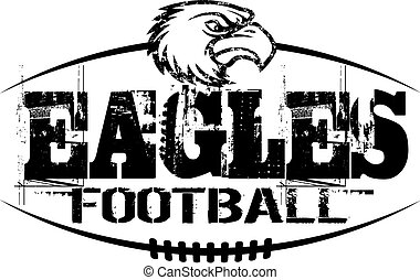 eagles football - distressed eagles football design with...