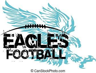 eagles football - distressed eagles football team design ...
