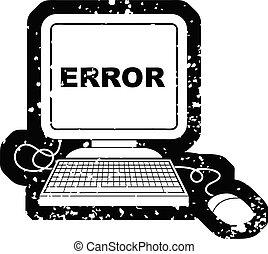 Distressed effect computer error