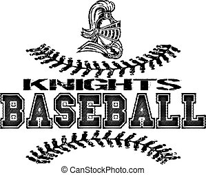 knights baseball - distressed knights baseball design with ...