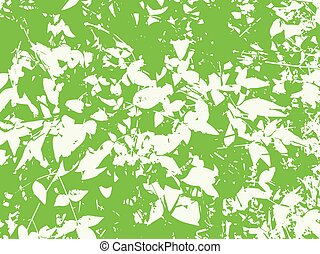 Distressed Leaves Vector Texture Overlay