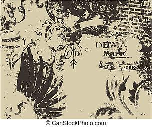 distressed medieval art