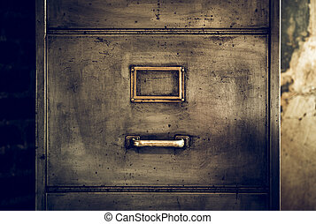Distressed Metal Filing Cabinet