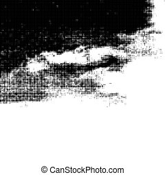 Distressed overlay grunge halftone background. Halftone dots vector texture.