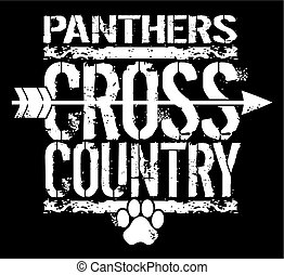 panthers cross country - distressed panthers cross country ...