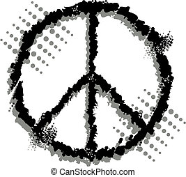 peace sign - distressed peace sign