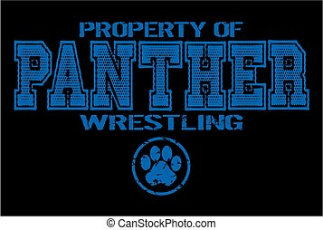 panther wrestling - distressed property of panther wrestling...