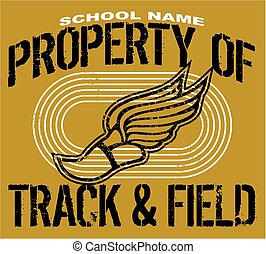 track and field - distressed property of track and field...