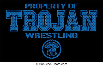 trojan wrestling - distressed property of trojan wrestling...