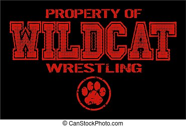 wildcat wrestling - distressed property of wildcat wrestling...