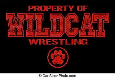 wildcat wrestling - distressed property of wildcat wrestling...