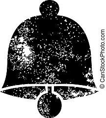 distressed symbol brass bell