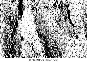 Distressed texture overlay. Vector background