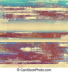 Distressed texture with ragged grunge overlay. Wrinkled backdrop with different color patterns: yellow (beige); blue; red (orange); purple (violet); cyan